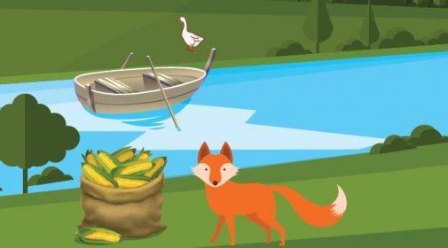 Şekil 1.2: Tilki, kaz ve mısır çuvalı, probleminin çözümü için gerekli olan ilk adım