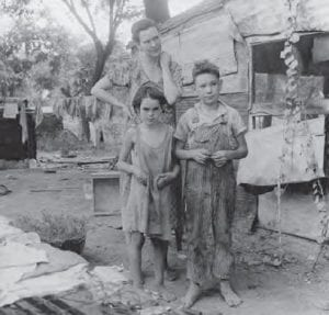 Dünya Ekonomik Buhranı sonucunda teneke barakalarda yaşamak zorunda kalan bir aile