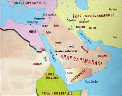 İslam'ın ilk yıllarında Arap Yarımadası'nın siyasi durumu