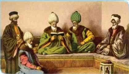 Osmanlı İlmiye sınıfı temsili resim